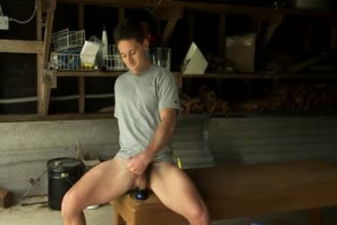 Toying pumped up Hunk jizzed